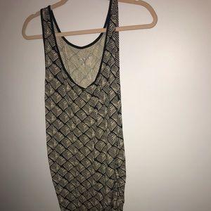 Cream and grey gel maternity stretch dress